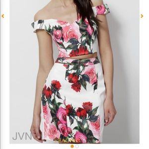 Jovani 2 piece homecoming dress new size 4 floral